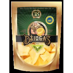 """Kietas sūris """"Džiugas"""" 40% rieb. brandintas 18 mėn. Piquant  laužytas fiks. 100 g"""