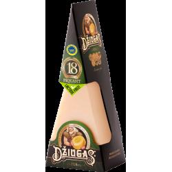 """Kietas sūris """"Džiugas"""" 40% rieb. brandintas 18 mėn. Piquant fiks. 180 g"""